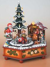 Spieldose Musikdose Weihnachtszeit,Miniatur Hubrig Volkskunst Erzgebirge104h3003