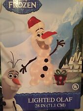 "Disney Frozen Lighted Olaf Christmas Outdoor/Indoor Yard Decoration 28"" NEW"