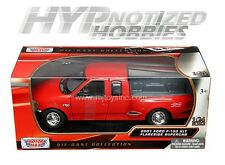 MOTORMAX 1:24 2001 FORD F-150 XLT FLARESIDE SUPERCAB DIE-CAST RED 73284