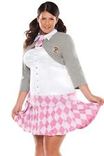 Full Figured Sexy Plus Size Halloween Costume Prep School Girl 1x/2x 18/20
