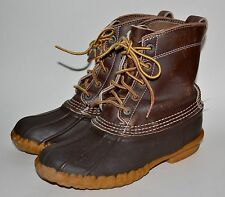 Vtg USA LL Bean Maine Hunting Duck Boots/Shoes Womens-6-M Brown Leather Upper