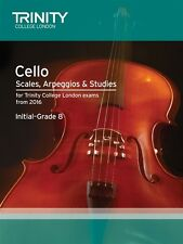 Trinity College Cello Scales & Exercises, Grade 1-8 from 2015 - Same Day P+P