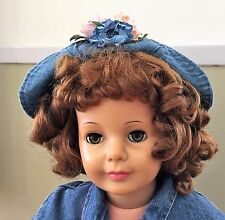Vintage Ideal  Patti Playpal Auburn/ Brunette Curly Top Green Eyed Beauty