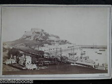 Vintage Photocard of JERSEY c1880s - Victorian Channel Islands Sepia Photograph