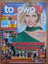 ANJA RUBIK on front cover To & Owo TV Magazine in. Hugh Jackman,A.Radwanska