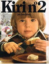 PUBLICITE  1970   KIRI 2  fromage au jambon