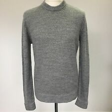 Mens COS Grey Knitted Long Sleeve Slouch Jumper Sweater, Size Medium