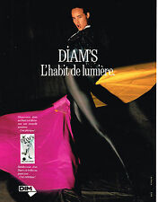 PUBLICITE ADVERTISING 025  1989  DIAM'S  2  habit de lumière bas & collants