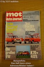 MOT 22/72 VW K 70 412 E Fiat 127 Renault R5 Fiat 126