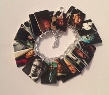 Alan Rickman Tribute Loaded Bracelet Handmade Plastic Charms Severus Snape