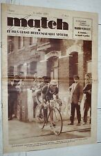 MATCH INTRAN N°465 1935 CYCLISME TOUR FRANCE ROMAIN MAES ALPINISME MONT-BLANC