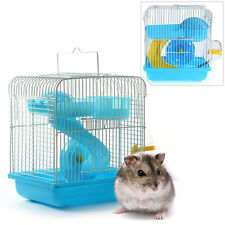 Portable House Cage Set for Small Animal Hamster Gerbil Chinchillas Blue S