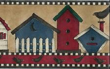 DEBBIE MUMM COUNTRY BIRDHOUSES WITH CROWS  WALLPAPER BORDER