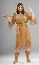 DELUXE NATIVE AMERICAN MAID COSTUME WOMEN'S PLUS SIZE