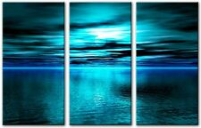 3 Panel Total 90x50cm Large ABSTRACT GICLEE DIGITAL ART PRINT TOBIN 3