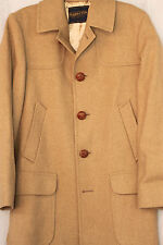 Vintage 60s Pendleton Camel Coat Overcoat 100% Wool Size 38 Made in USA