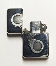 Chain Handcuffs / Metal Flip Top Refillable Oil Lighter