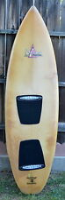 VINTAGE SPYDER 6'0 FISH SURFBOARD GLASS-ON FINS SHAPED/DENNIS JARVIS COLLECTIBLE