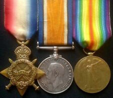 WW1 1914-15 TRIO OF MEDALS PTE JESSOP, 1/6th W.YORK.R FROM STANNINGLEY,WITH DOCS