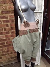 Steam Punk Pantaloons Breeches Tweed Khaki Braces Wide Pockets One Size One Off