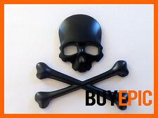 Metall Emblem SKULL, Totenkopf, Piraten SCHWARZ, Turbo, Tuning, Universal