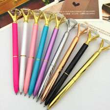Delicate Diamond Shaped Head Crystal Ballpoint Pen Creative Pen Korea Style Pen