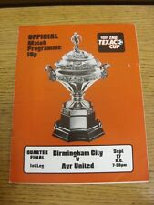 17/09/1974 Birmingham City v Ayr United [Texaco Cup] (creased). Thanks for viewi