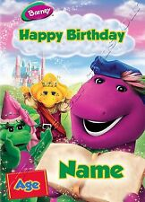 - BARNEY AND FRIENDS - IDEAL FOR SON PERSONALISED CHILDREN'S BIRTHDAY CARD