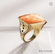 "Silpada ""K R"" Sunset Statement Ring KRR0127 size 7"