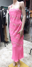 Designer Patrick Casey BNWT UK 14 Gorgeous Pink 100% Pure Silk Dress & Scarf FAB