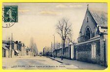 cpa RARE 72 - LE MANS (Sarthe) Sacré Coeur et la route de Paris