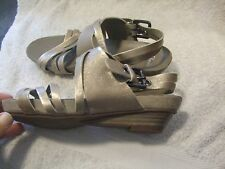 Clarks Pale irredescent Gold Sandals Size 3  Immaculate worn once condition