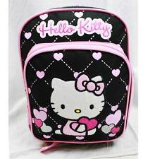 "NWT Hello Kitty 10"" Mini Backpack Bag Black Heart Style Licensed Sanrio"