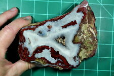Great Brenda Agate with Icy Sagenites Faced Rough