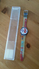 1991 Vintage Bold Face SWATCH in BOX - Swiss Watch 1151 5671