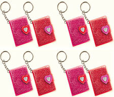 Valentines Day Glitter Vinyl Notebook Keychain Party Decoration Favor Supply~8ct