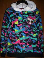MONSTER High Geometric HOODIE NeW Girl's 6/6x Faux Fur-Line Hooded Jacket NWT
