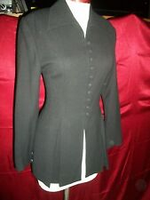 BEBE BLACK WOOL FITTED RIDING JACKET 6 S