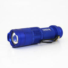 Mini 7W300LM CREE Q5 LED Flashlight Torch Adjustable Focus Zoom LightLamp Blue