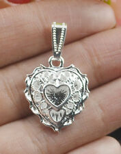 Silver Apple Heart Necklace Chain Pendant Elegant Jewelry Gift