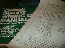 1978 - 1982 NISSAN DATSUN 200SX SX WIRING DIAGRAMS SCHEMATICS MANUAL SHEETS SET