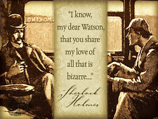 SHERLOCK HOLMES QUOTE VINTAGE   RETRO STYLE WALL METAL SIGN HOME DECOR GIFT 5