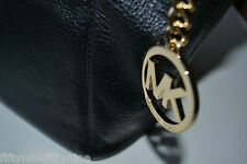 NEW AUTHENTIC MICHAEL MICHAEL KORS MEDIUM BLACK LEATHER  TOTE HAND /SHOULDER BAG