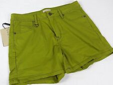 NWT $195 Womens Burberry Brit Epping Green shorts US 31 asparagus color