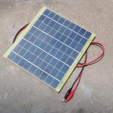 5W 12V Solar Cell Panel For Car Battery Garden Lights Charger Backpack Power BG
