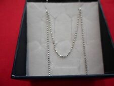 925 Sterling Silver Bead Chain-30 inches, 3.1 grams, 1.24 mm
