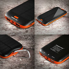 Poweradd Apollo2 Portable Solar Power Bank 10000mAh External Charger - dual USB