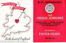 1957 Scouts Sutton Park Jubilee Jamboree Poster Stamp Set