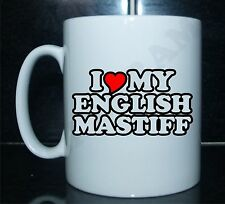 I LOVE/CUORE MY ENGLISH MASTIFF Con Stampa Mug Regalo CUCCIOLO DI CANE
