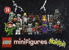 LEGO Minifigures MONSTERS Series 14 (71010) Full Set 16 Figures. Factory Sealed